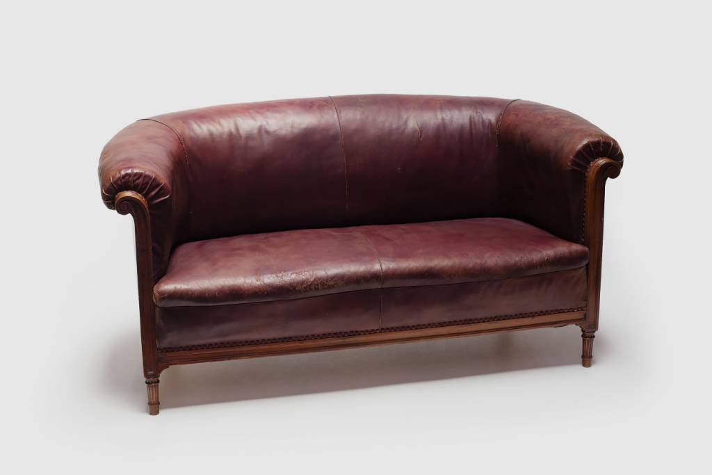 Denmark Leather Settee featured image
