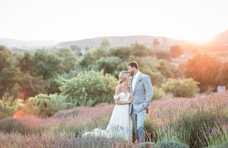 Lavendar fields styled shoot