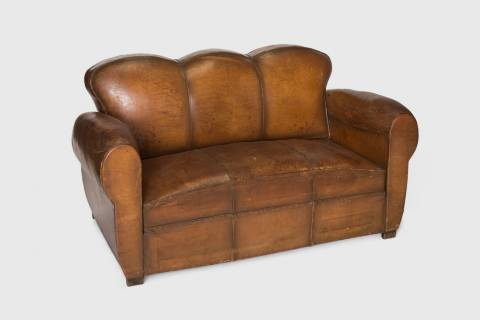 Lodge Leather Club Sofa featured image