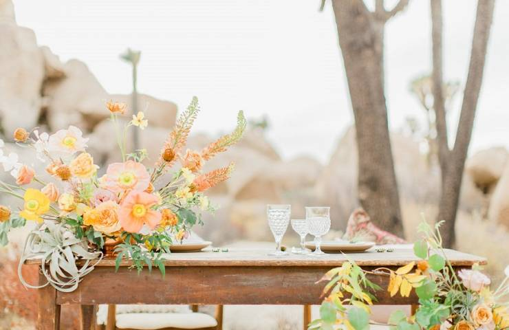 Bright Spring Engagement at Joshua Tree Featured on Inspired By This featured image