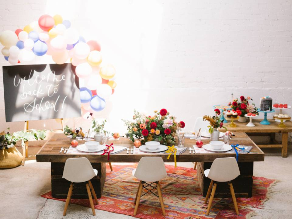 Modern Back-to-School Party Featured on 100 Layer Cake-let featured image