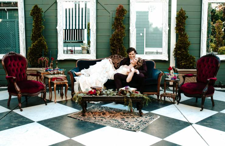 Romantic Jewel Toned Wedding Inspiration featured image
